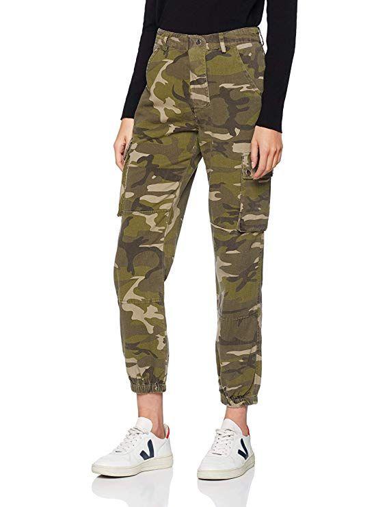 83a078452ef32a New Look Women's Camo Utility 6100505 Skinny Jeans, Green (Dark Khaki 34),