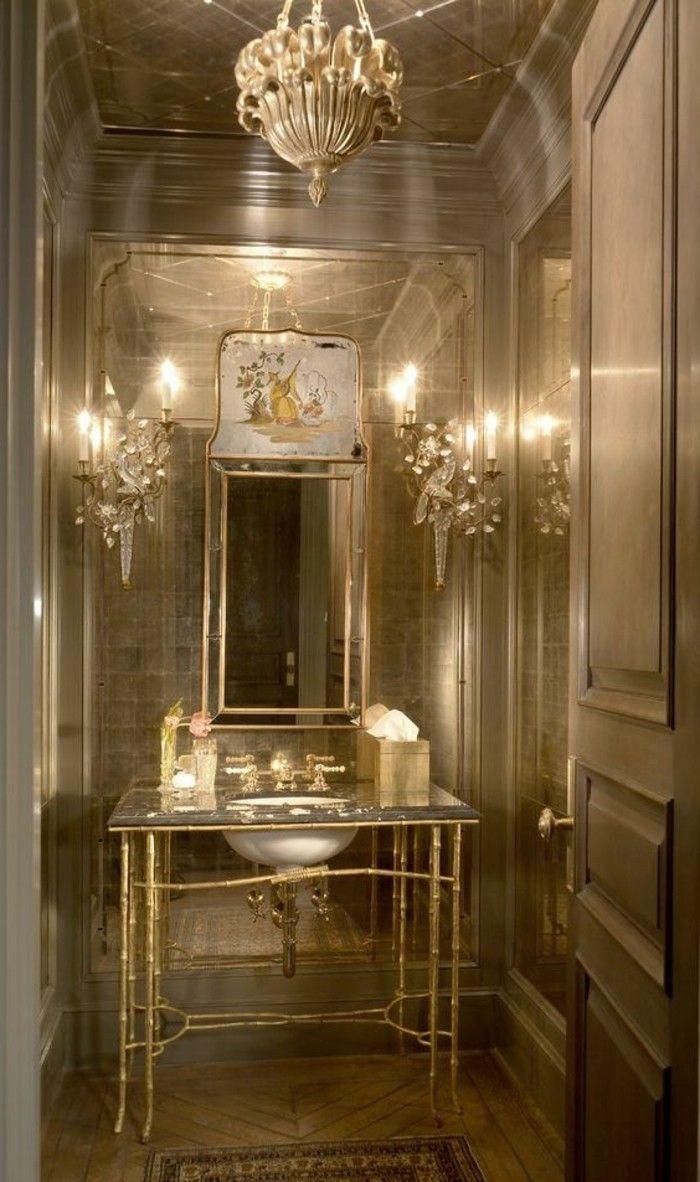 Geräumig Badgestaltung Ideen Foto Von Bader Badezimmer In Gold Gestalten Retro Stil