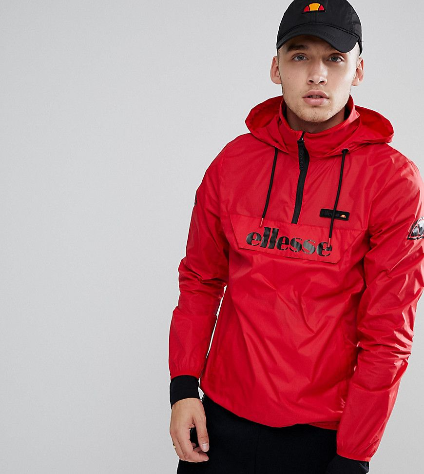 Ellesse Ion Overhead Jacket In Red - Red
