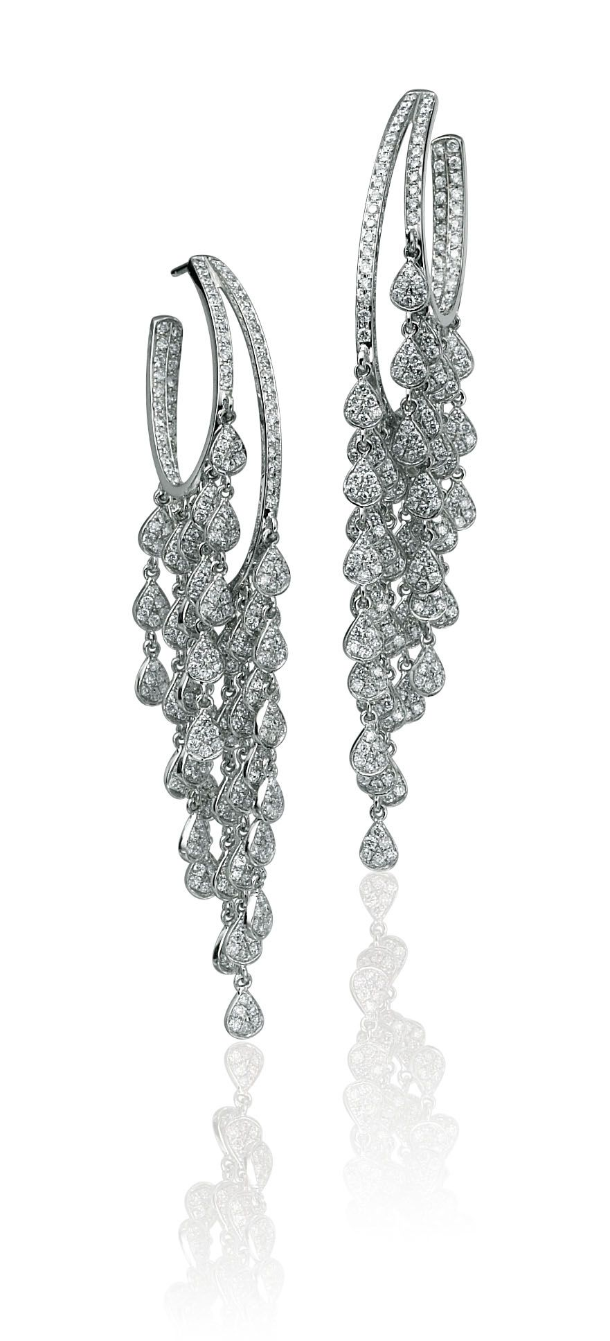 Diamond Tear Pave Drop Earrings From Razny Jewelers Custom Diamond Jewelry Jewels Jewelry Design