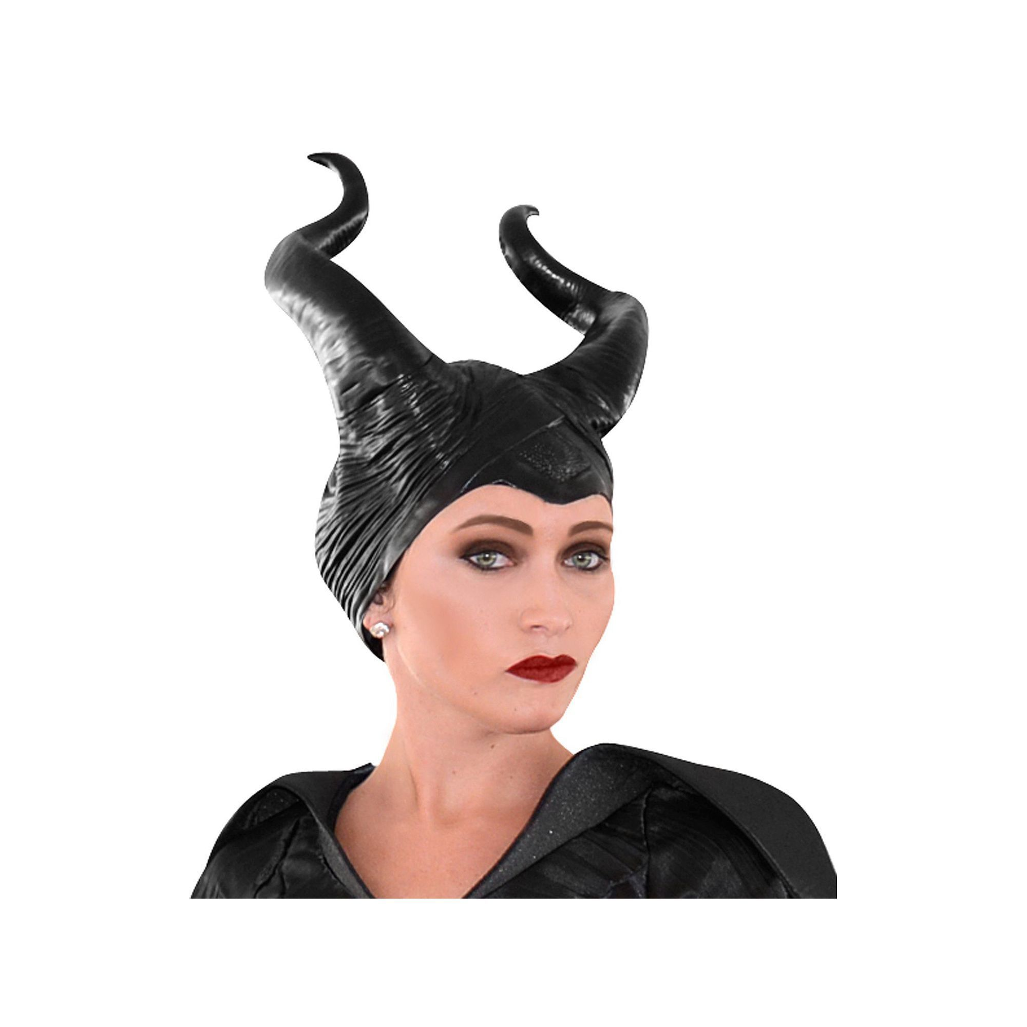 Halloween Party Disguise Womens Disney Maleficent Movie Deluxe Adult Horns Black
