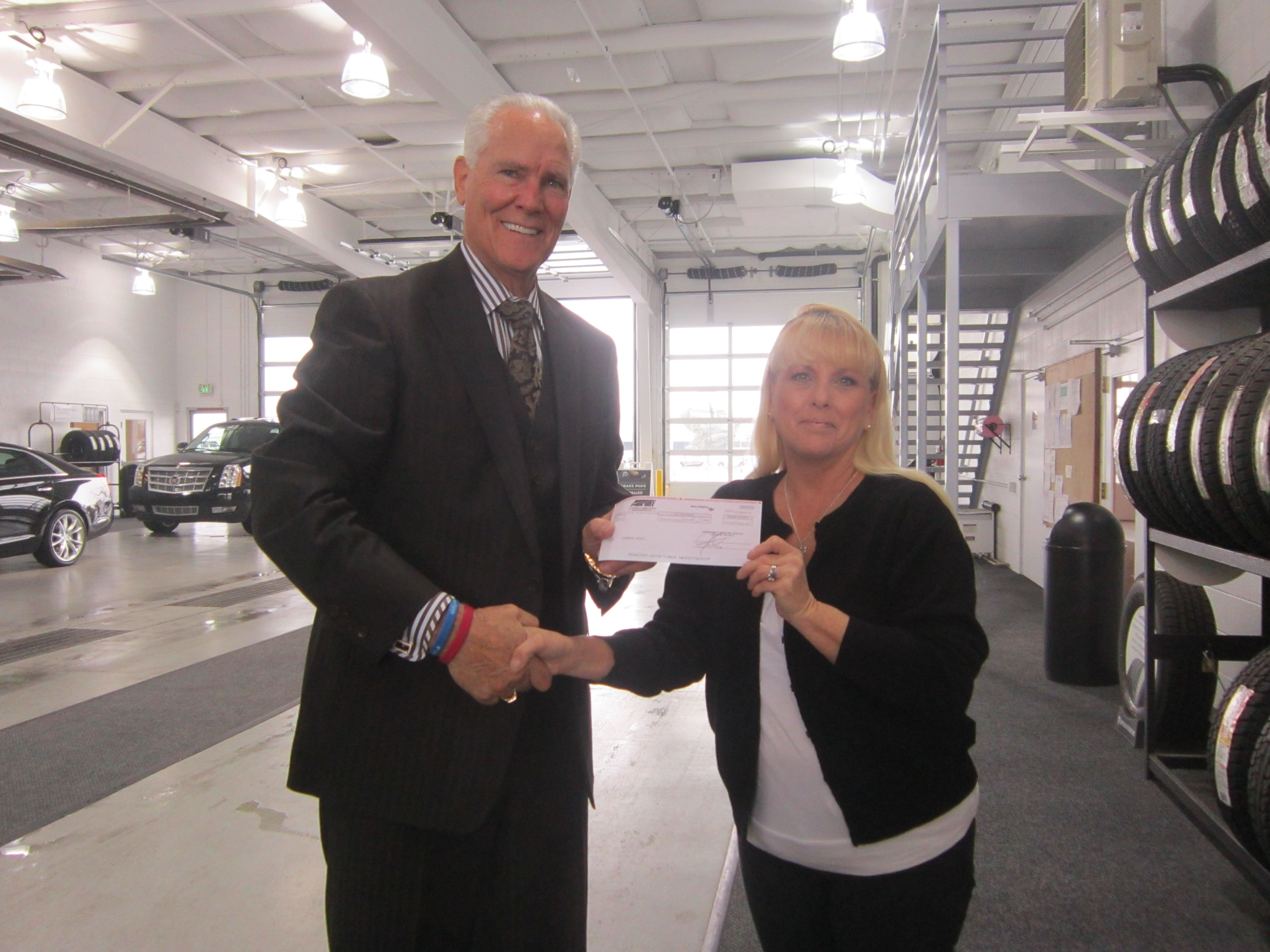 Generous Donation for Dave Mills at Airport Chevrolet ~ Thank you Dave and Airport Chevy for Helping Make Smiles for Cancer kids this year!