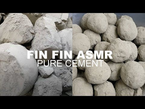 ASMR : SOFT PURE CEMENT CRUMBLE+SHAVING #222