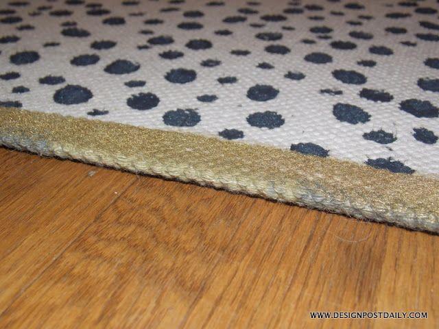 Designpost Interiors Paint A Rug Reveal Painted Rug Rugs Diy Rug Painting