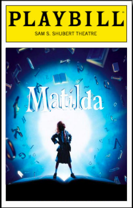 Matilda. THE MUSICAL! I cannot wait to see this!!