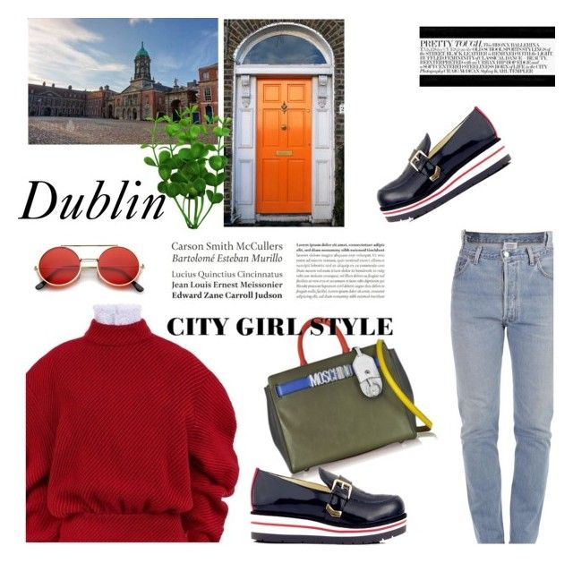 """""""Travel to Dublin"""" by lianafourmouzi ❤ liked on Polyvore featuring Vetements, A.W.A.K.E., Moschino, ZeroUV, Tommy Hilfiger and Tiffany & Co."""