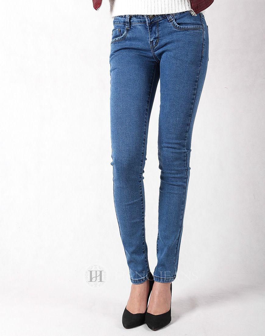Hằng Jeans - Quần jeans xanh sáng một màu côn bó 3103. Giá: 289.000đ