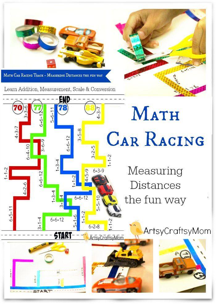 Math Car Racing Track - Measuring Distances the fun way   Fast math ...