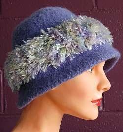 Free Knitting Pattern - Hats  Iceland Felted Cloche Hat with Splash Trim 12398eba0d8