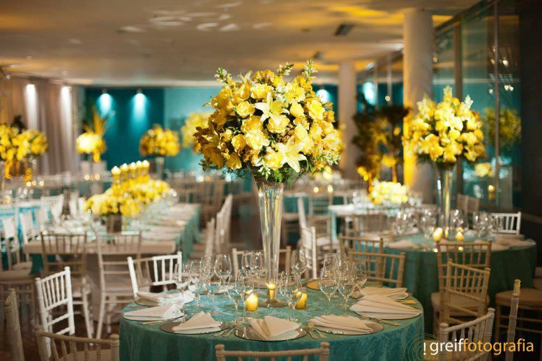 Follow us signaturebride on twitter and on facebook signature blue and yellow wedding junglespirit Gallery