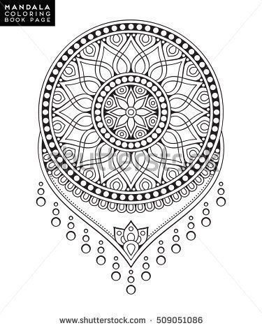 Flower Mandala Vintage Decorative Elements Oriental Pattern Vector Illustration Islam Arabic Indian Mor Mandala Zum Ausdrucken Mandala Ausmalen Ausmalen