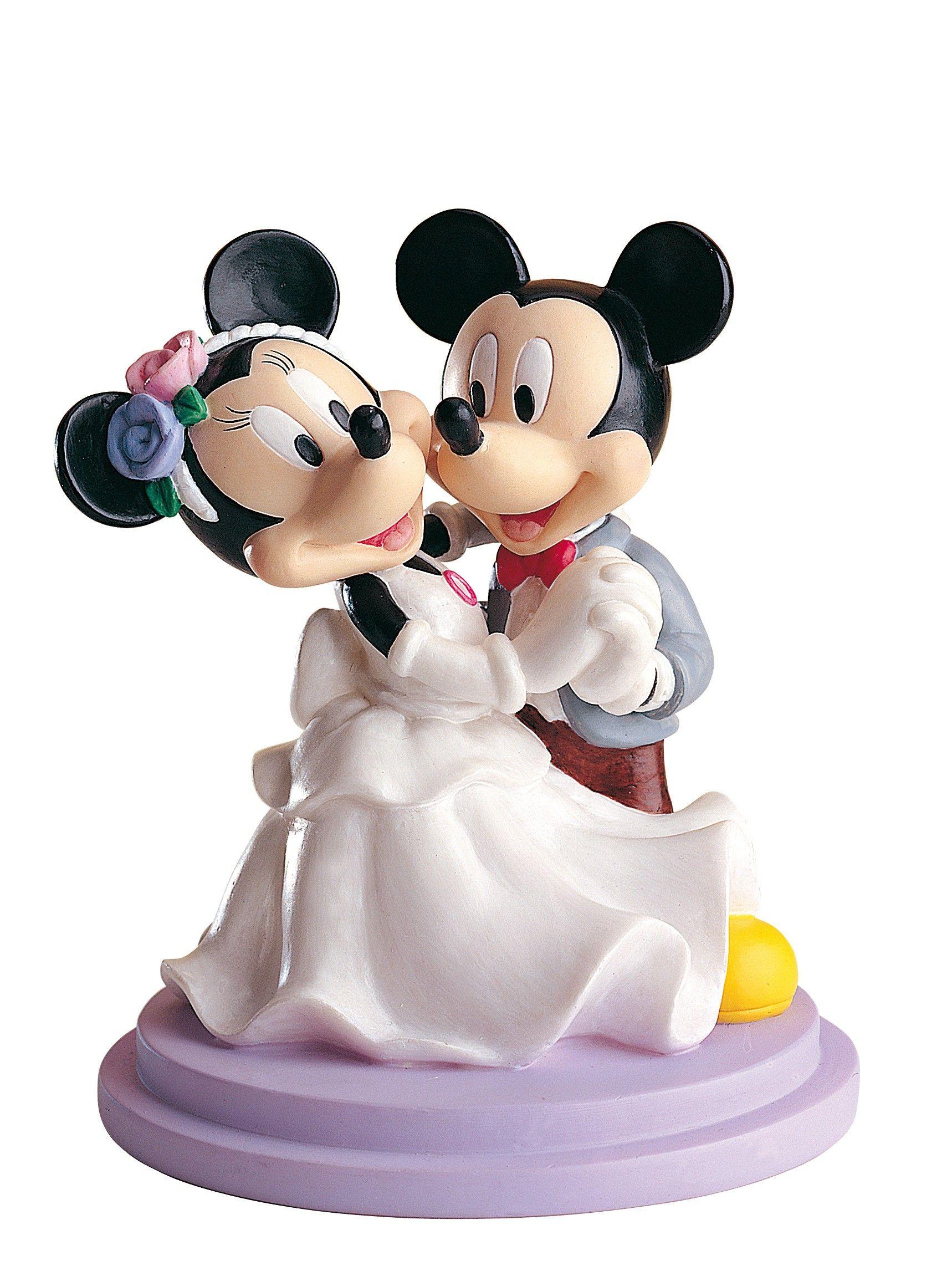 Figurine d coration de g teau de mariage mickey et minnie - Minni et mickey ...
