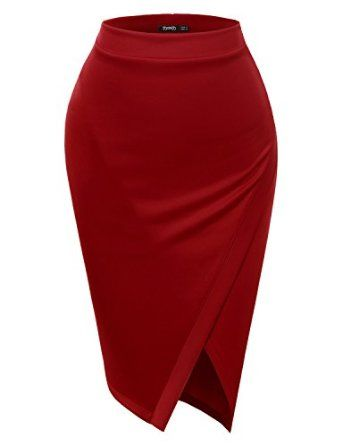 79ec2199f013 Avatar Fire Nation corporate casual cosplay Pencil Skirts Elastic Waist  Band Scuba Streychy Solid Color at Amazon Women's Clothing store: