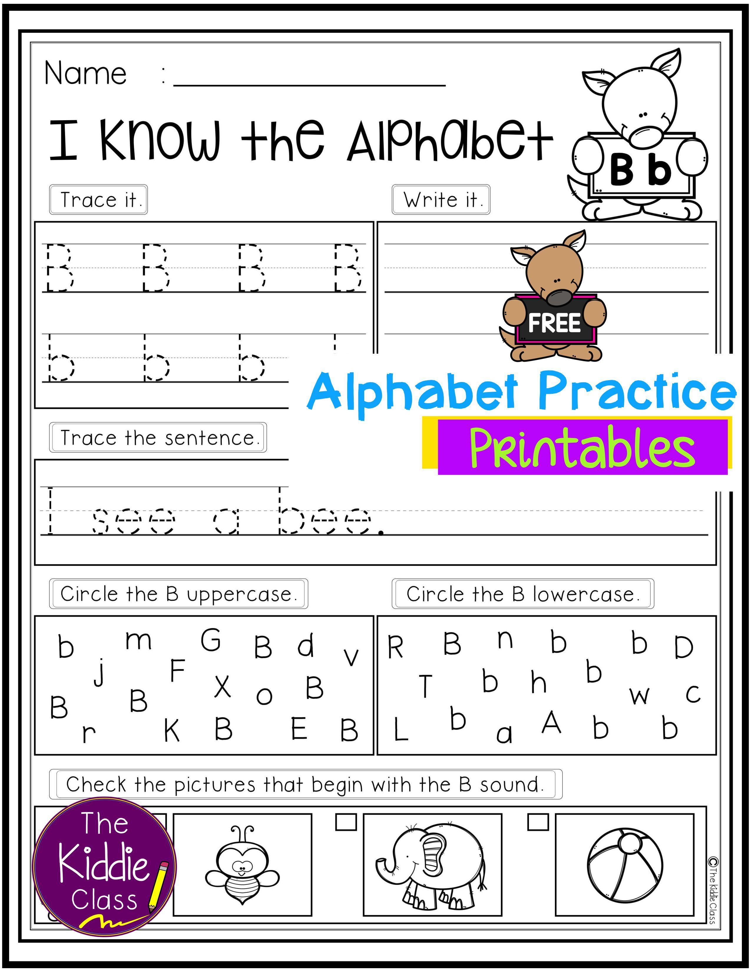 Free Alphabet Practice Printables In