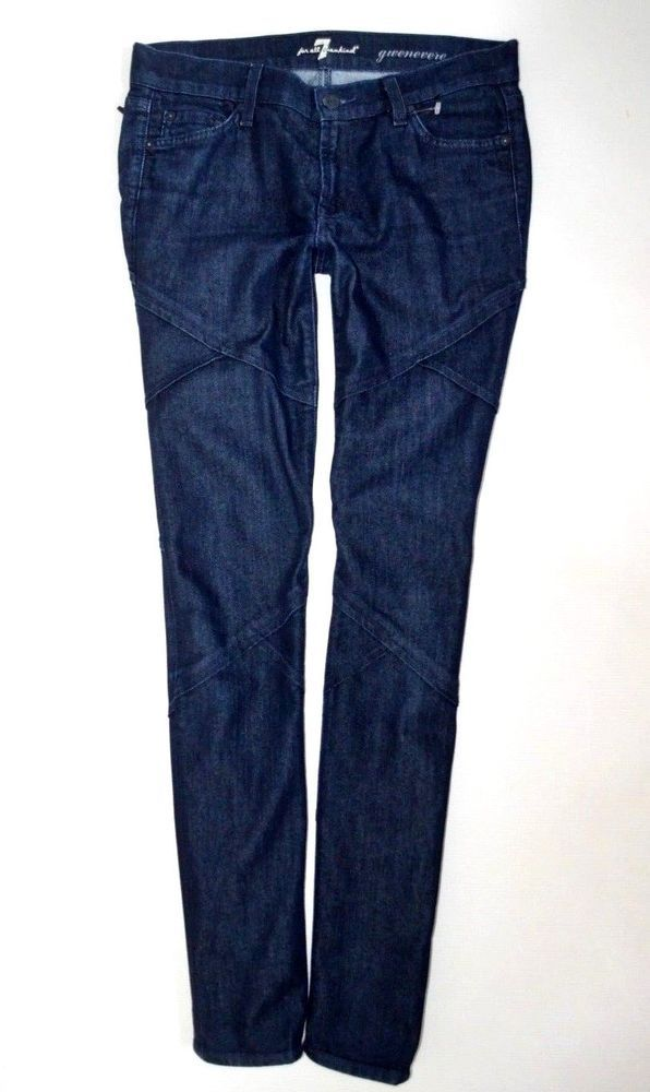 Ladies 7 For All Mankind Gwenevere Stretch Skinny Jean Women Size