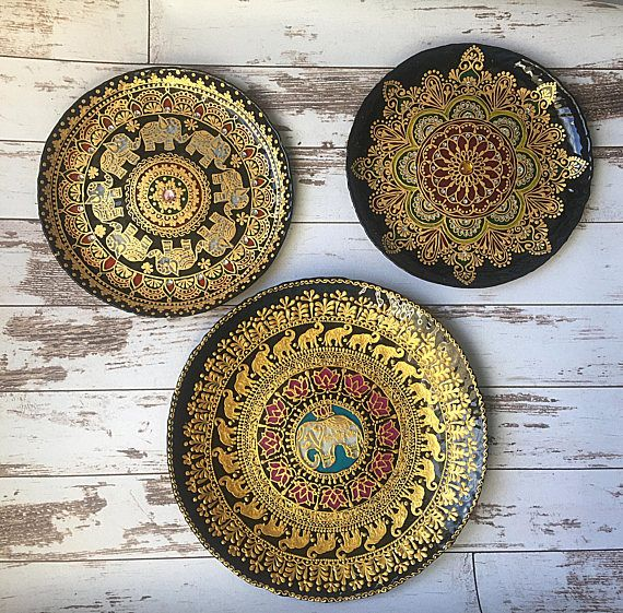 wall plate plate set decorative plates Oriental wall & wall plate plate set decorative plates Oriental wall hanging ...