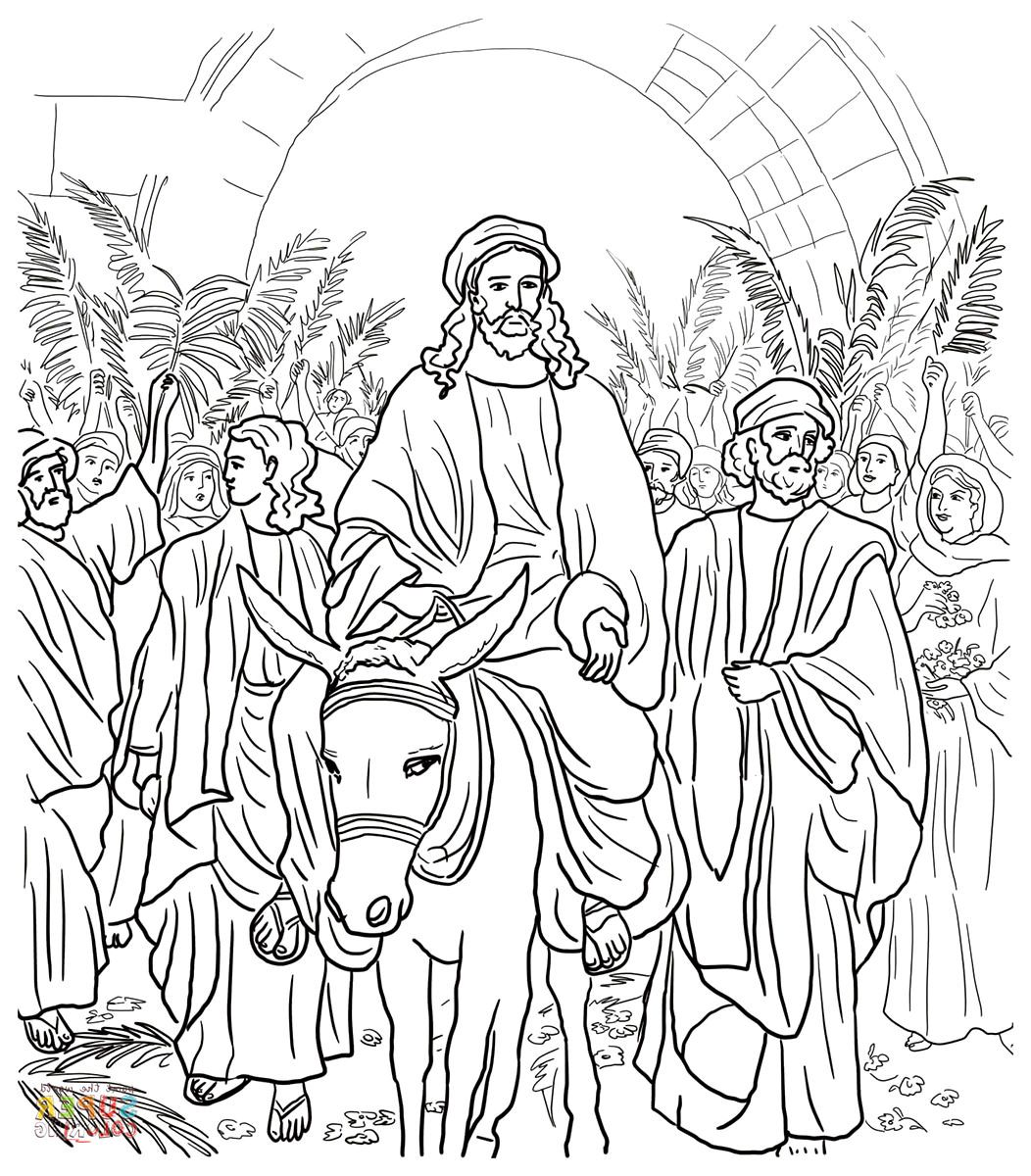 Coloring Page Of Mark 11 1 11 Bible Coloring Pages Jesus Coloring Pages Bible Coloring