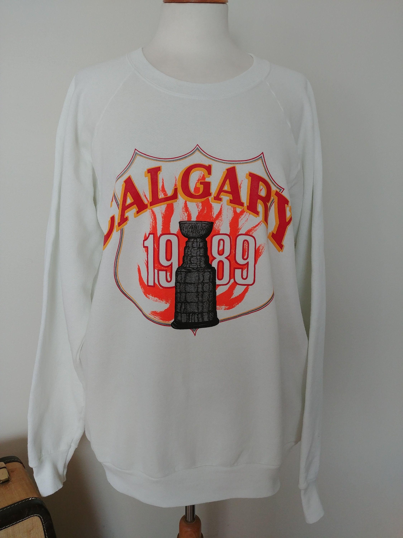new product 72434 83092 Vintage Calgary Flames 1989 Sweatshirt, 89 NHL Stanley Cup ...
