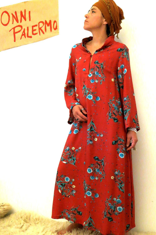 Kaftan Kleid Oversized Kleid Ethno Boho Kleid Gypsy Kleid | Onni ...