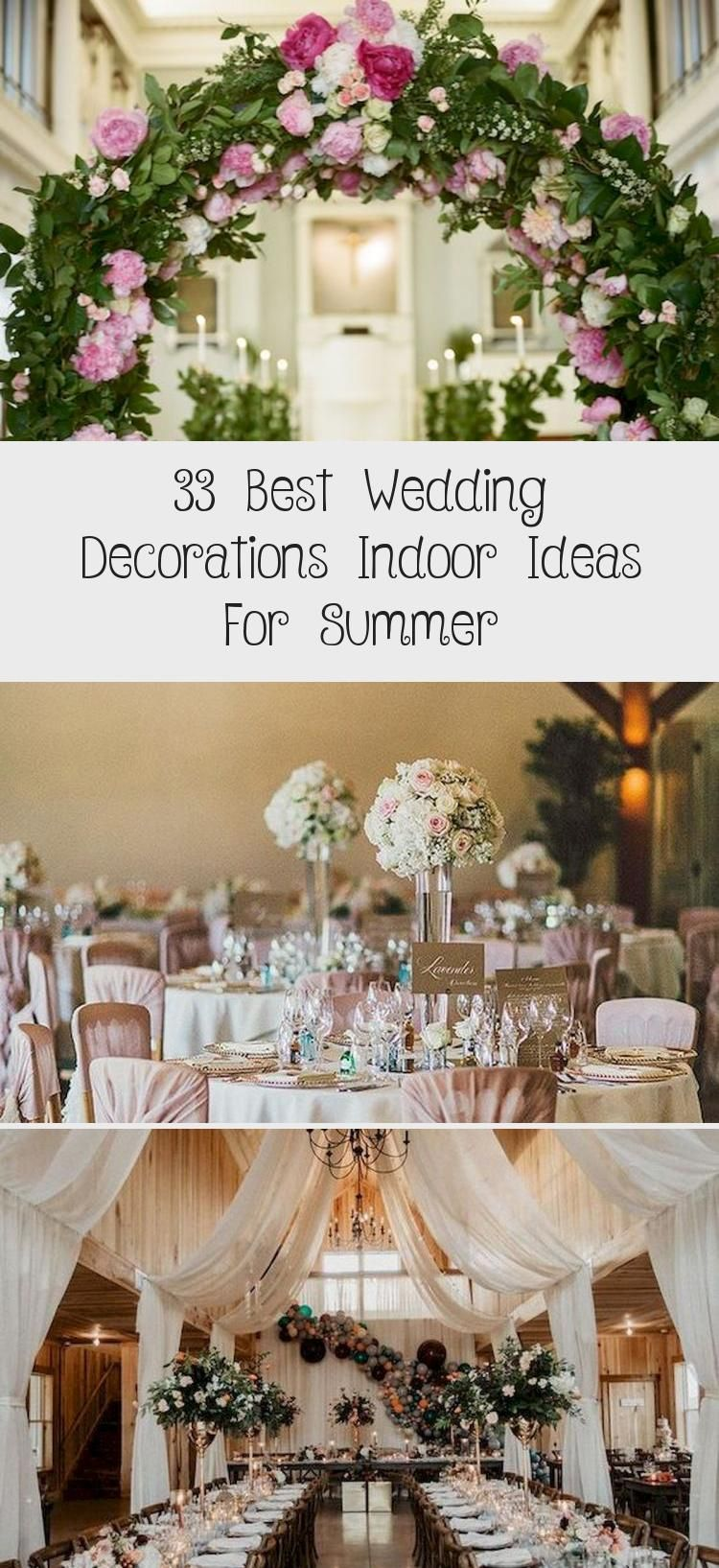 33 Best Wedding Decorations Indoor Ideas For Summer ...