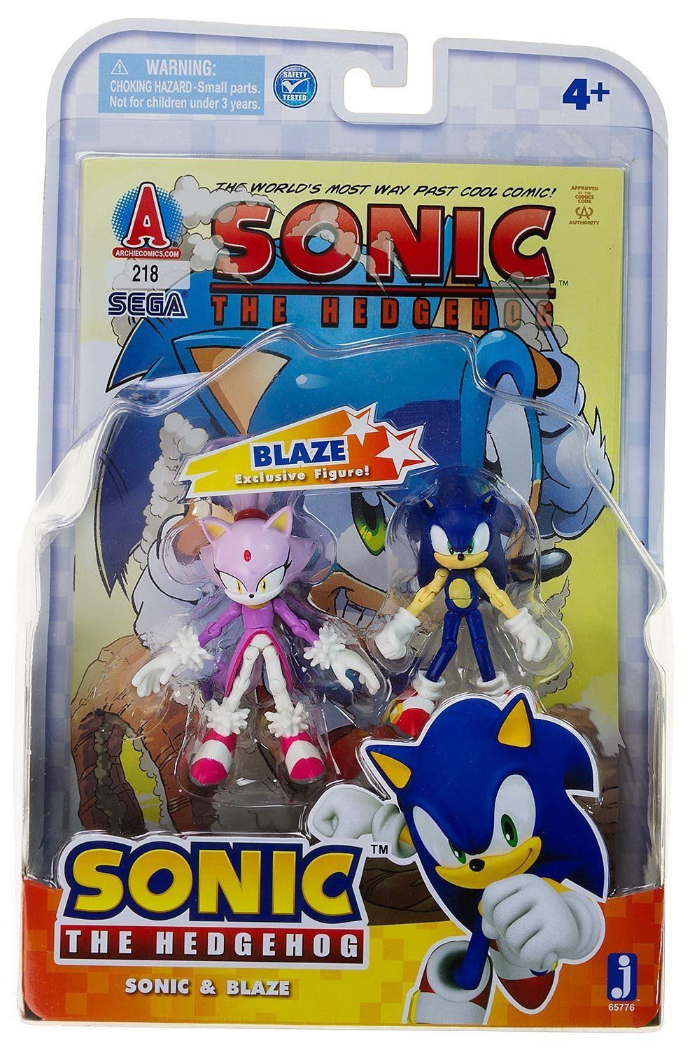 """Jazwares 3/"""" Sonic the Hedgehog Sonic Figure Toy Doll Sega First Release 2009"""