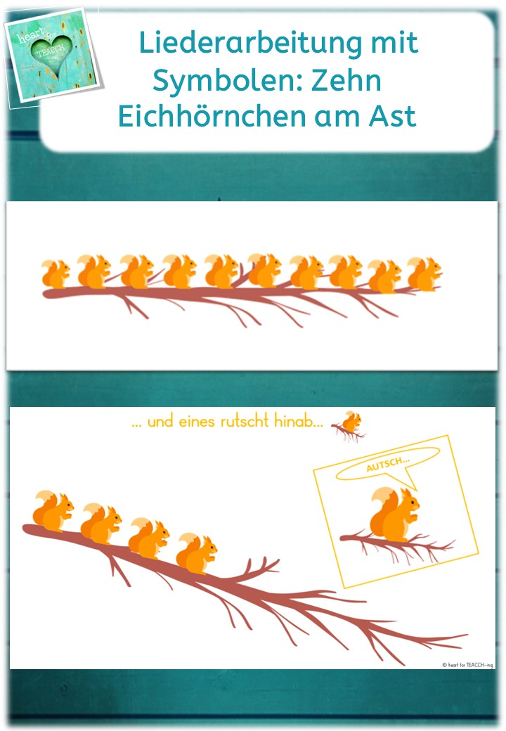 Zehn Eichhornchen Am Ast Liederarbeitung Mit Symbolen Unterrichtsmaterial Im Fach Musik In 2020 Lied Musikunterricht Kinder Lied