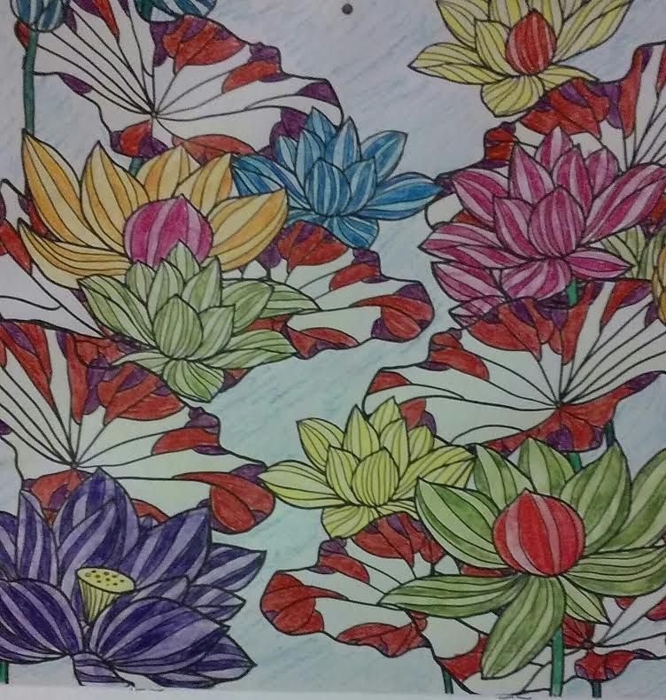 this is the top of my coloring calender for July the flowers I used - best of coloring pages watering plants
