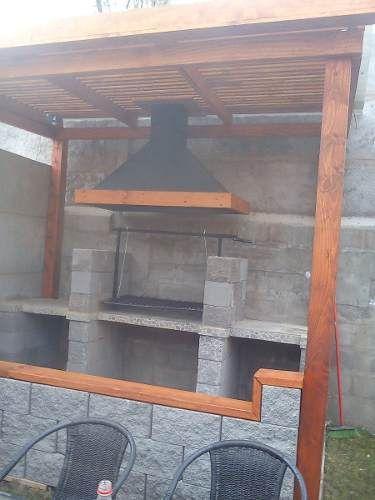 Fotos de quincho para asados parrillas pergolas santiago for Parrilla para una casa