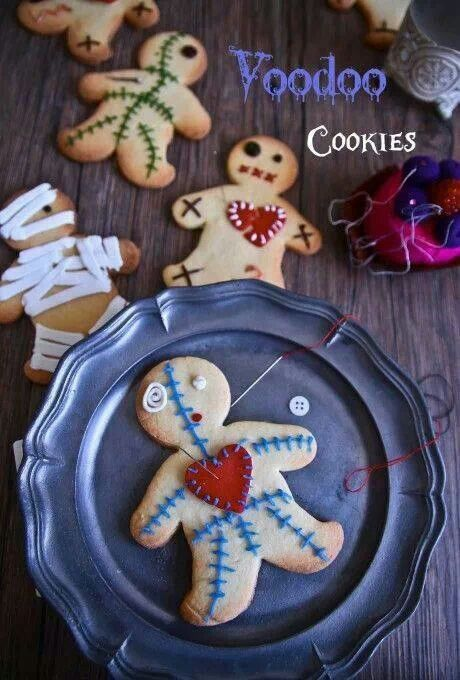 VooDoo Cookies for Halloween! I bet the Ninja Bread Men cookies would add something interesting to this. :P