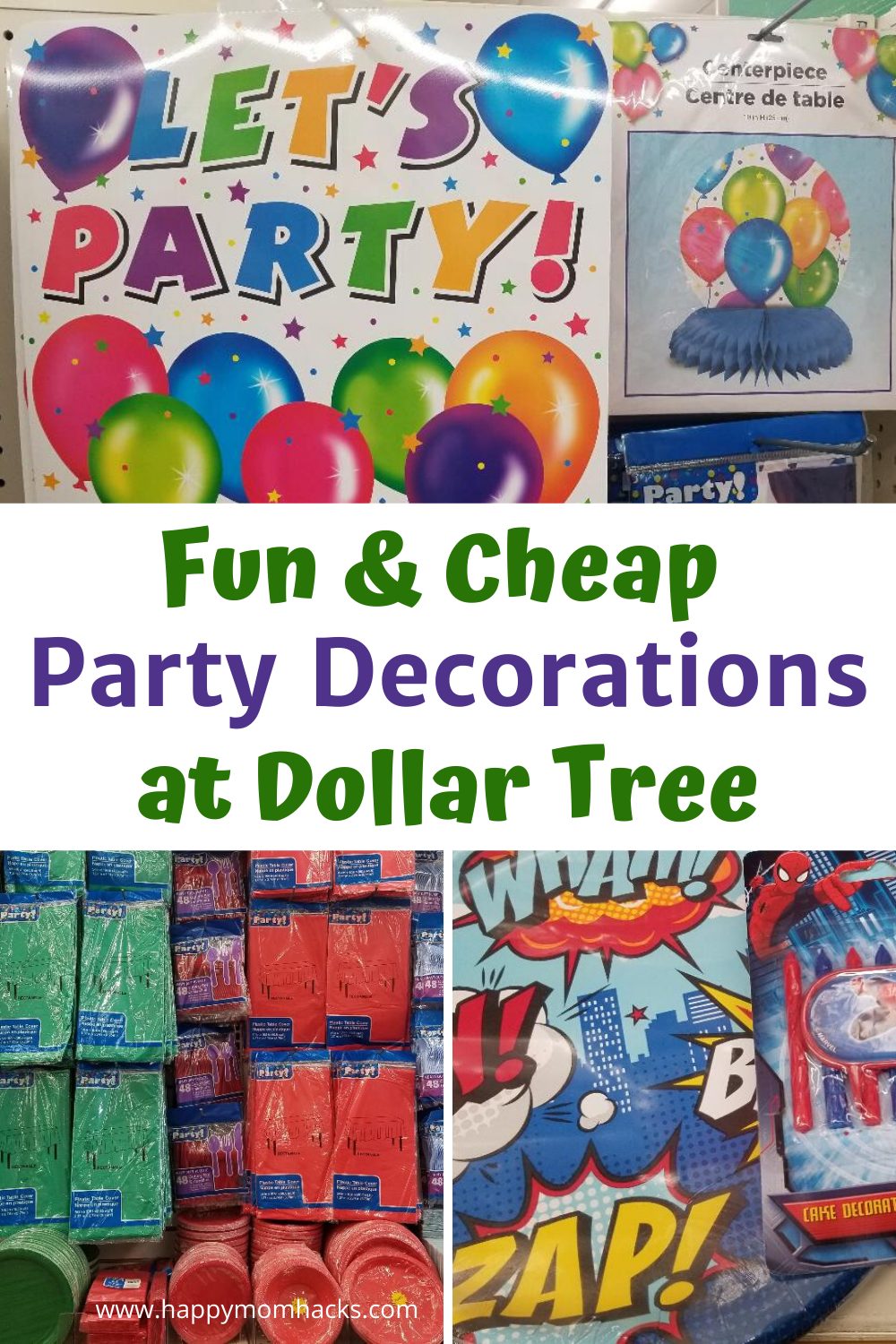 Cheap Birthday Party Decorations For Kids At Dollar Tree In 2020
