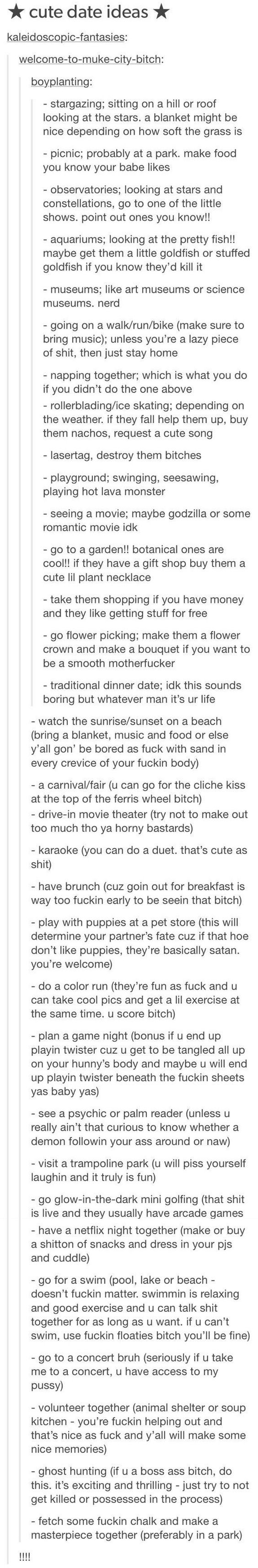 What to do on a third date