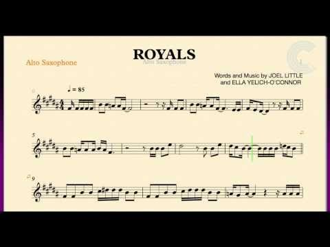 Royals Lorde Alto Saxophone Sheet Music Chords And Vocals