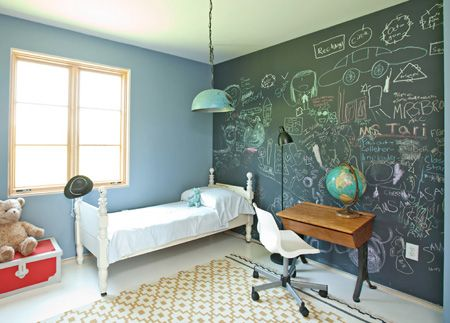 This Wall Would Be So Cool, But Ive Moved On From Painting #chalkboard Walls.  Prefer The Wallpaper. Much Easy To Apply And Keep Clean :) | Pinterest ...
