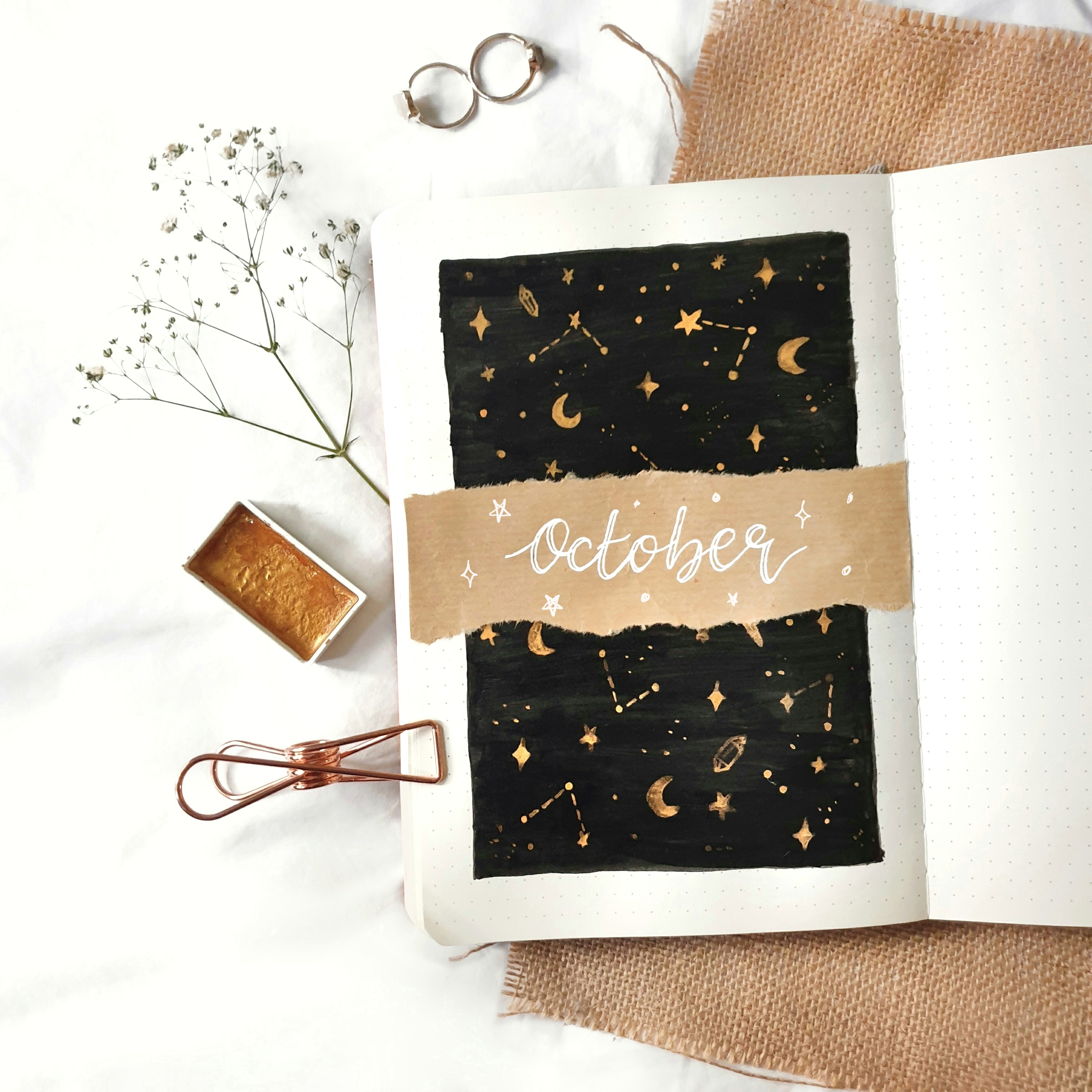 How To Magical October Cover Page Bullet Journal Inspiration Bullet Journal Aesthetic Bullet Journal Themes