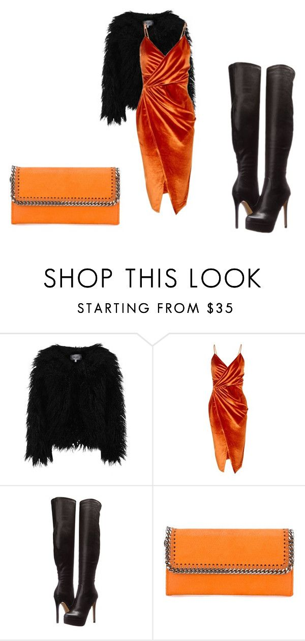 """Orange"" by lia-fashion ❤ liked on Polyvore featuring Dry Lake, Boohoo, Chinese Laundry and STELLA McCARTNEY"
