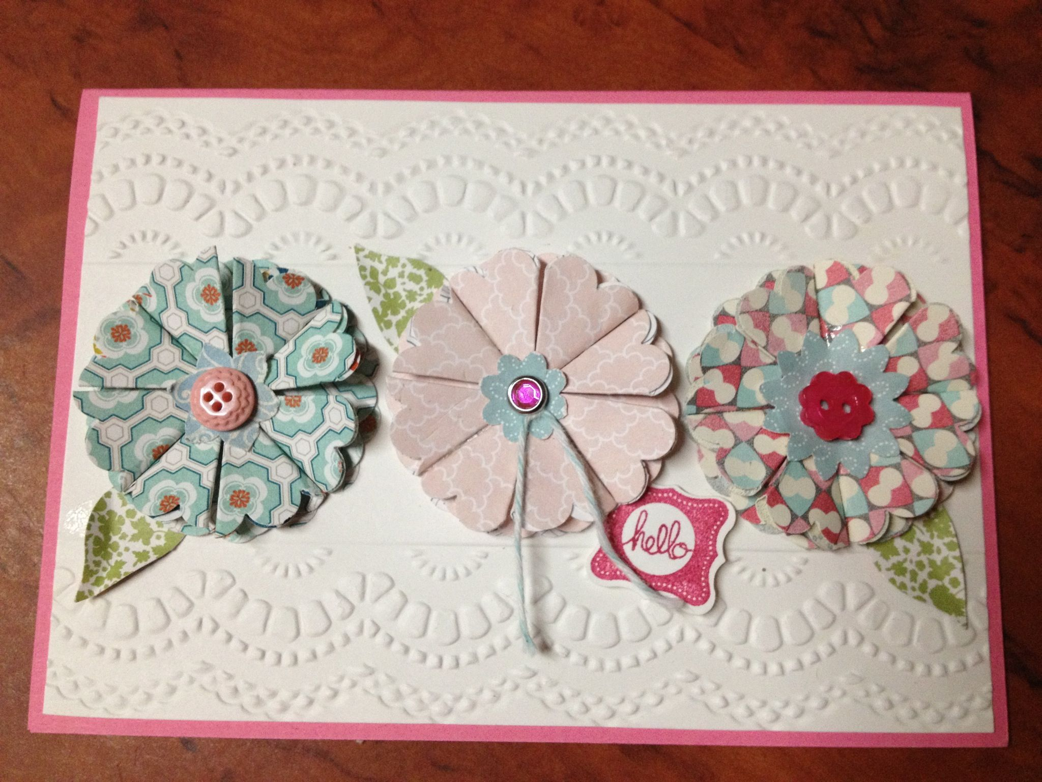 Paper Flowers Using Scallop Circle Punch The Leaves Are The Wing