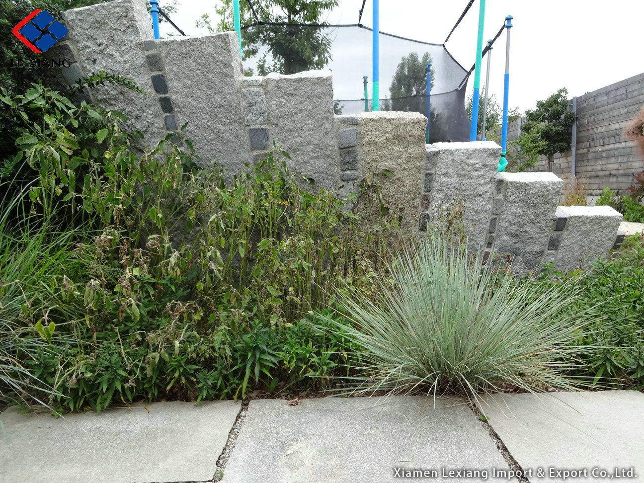 Granit palisaden ideen gartengestaltung for Gartengestaltung unterschiedliche hohen
