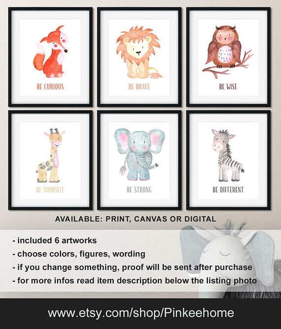 0ac2b856bb10 Watercolor animal prints