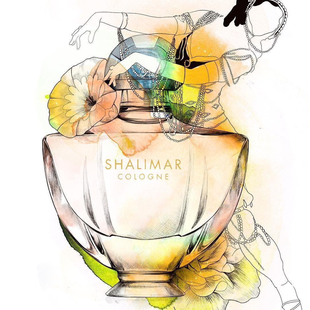 Shalimar by @guerlain for @citizenkmagazine #shalimar #parfum #guerlain #guerlainshalimar #illustration #iloveit #perfume #creative #oriental #editorial #story #illustrator