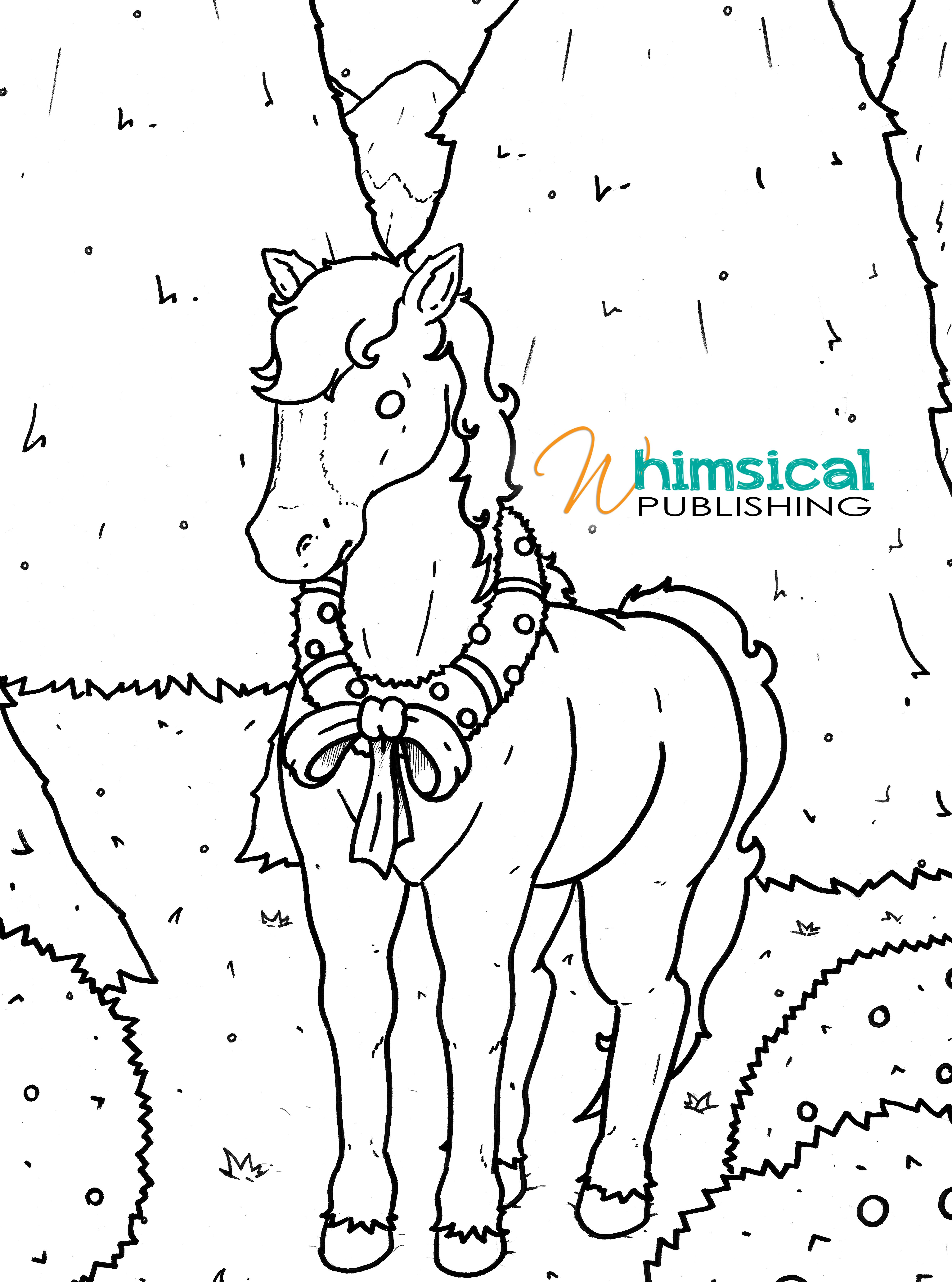 Free Printable Christmas Horse Colouring Page Horse Coloring Pages Printable Christmas Coloring Pages Coloring Pages