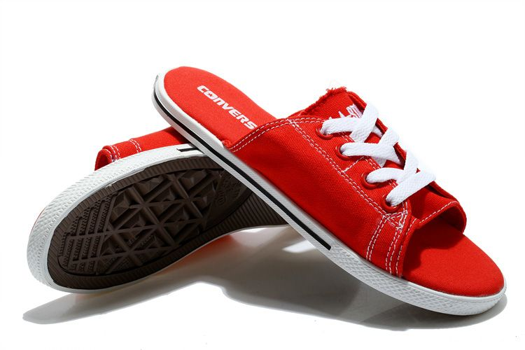cba45fe90663 All Red All Star Converse Cutaway EVO Chuck Taylor Slippers  converse  shoes