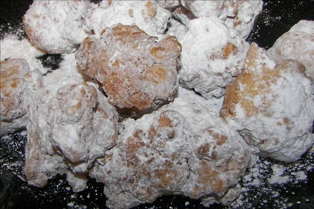 "Bethany s Jerseygirl Zeppoles from Food.com: This recipe was originally posted by Kiss--My--Tiara, a friend of mine. She's a great cook and a very funny person. I haven't made this recipe, but here's what she had to say about it: ""A Zeppole is NOT a fritter, a donut hole or a funnel cake. They are better. This is a typical Italian New Jersey Zeppole recipe. These can always be bought in pizzerias or on the boardwalk."""