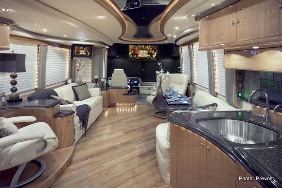 beautiful prevost motorhome rv living pinterest
