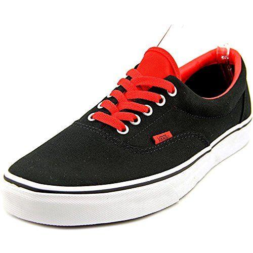 Vans Unisex Era Pop Skate Shoe BlackHigh risk red 13 DM US BlackHigh risk  red - 7acf95b7480e