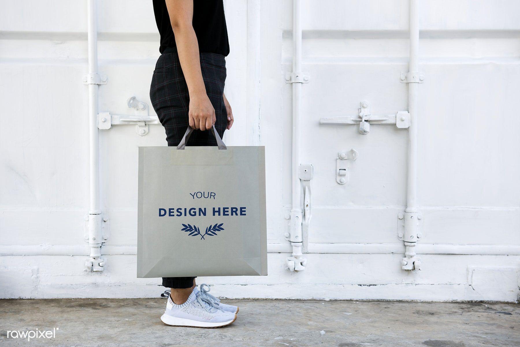 Download Download Premium Psd Of Design Space On Blank Paper Bag 295490 Paper Bag Bags Paper Bag Design
