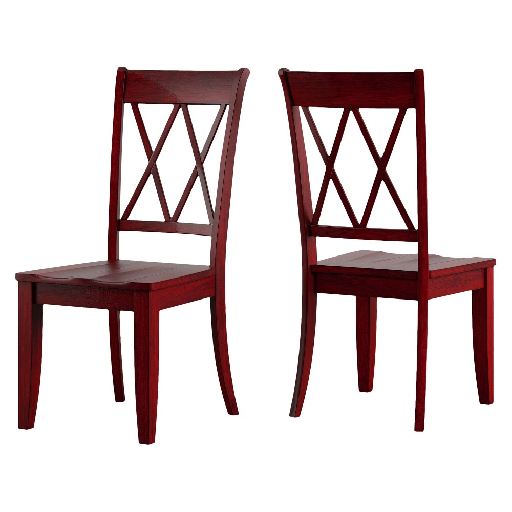 South hill x back dining chair rich ruby red in set inspire q