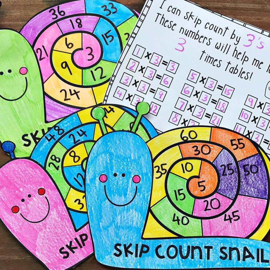 New mathtivity up in my store! Skip Count Snail! Integrate basic ...