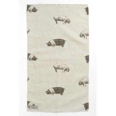 Saddleback Pig Tea Towel