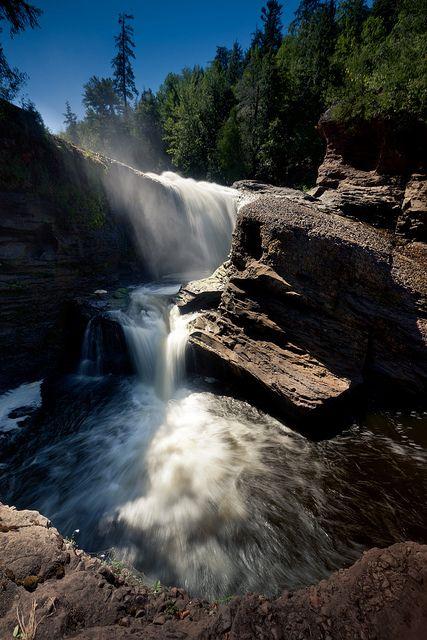 Rainbow Falls Rainbow Falls Michigan Waterfalls State Parks