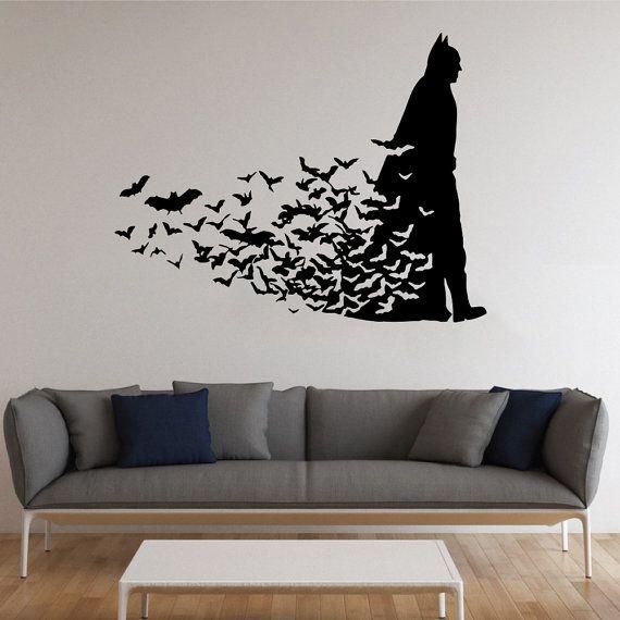 Wallartkids.Com #Batman With Bats Wall #Sticker   Wall Art Kids
